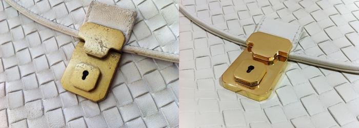 金具の再メッキ施工の写真