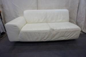 大塚家具のソファのひび割れ・色あせを改善修理しました。