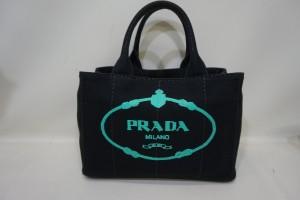 プラダ カナパ ファブリックハンドバッグ(ブラック) クリーニング+染直しリペア