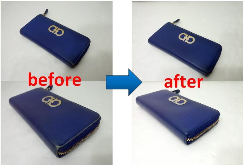 フェラガモ財布の修理