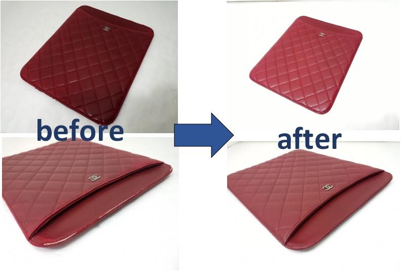 シャネル ipadケースの修理