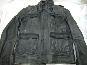 【DIESEL】ディーゼル 革ジャケットの修理~色あせて染め直し塗装