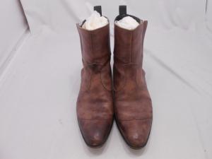 バッカス ショートブーツ ひび割れシミ補修