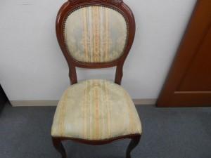 ダイニング椅子 張替(布➡布)/鹿児島市より生地の劣化による張替修理のご依頼です。