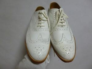 リーガルビジネスシューズ オールソール修理/鹿児島市より靴底ヒビ割れによるオールソール(ゴム)の交換修理の御依頼です。