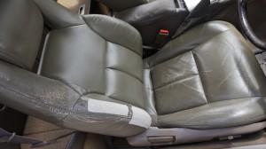 【車シート】トヨタ・ソアラ 運転席シート 破れ、ひび割れ 張り替えない補修です☆