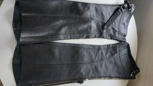 【革パンツ】バイク用チャップス レディース 裾カット☆