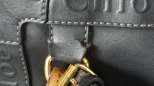 【クロエ】ショルダーバッグ ひび割れた持ち手+切れた付け根 革交換☆