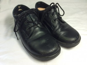 革靴 つま先 キズ修理