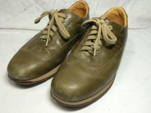 【バーバリー】 革靴 色はげを修理