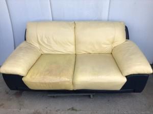 本革ソファーの補修(市販の商材ではむずかしい修理)