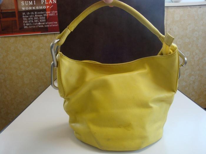 レザーハンドバッグ染め直し♪ ☆ご相談、出張お見積り(神戸近郊)は無料でございます☆