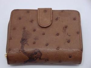 オーストリッチ・財布・色落ち
