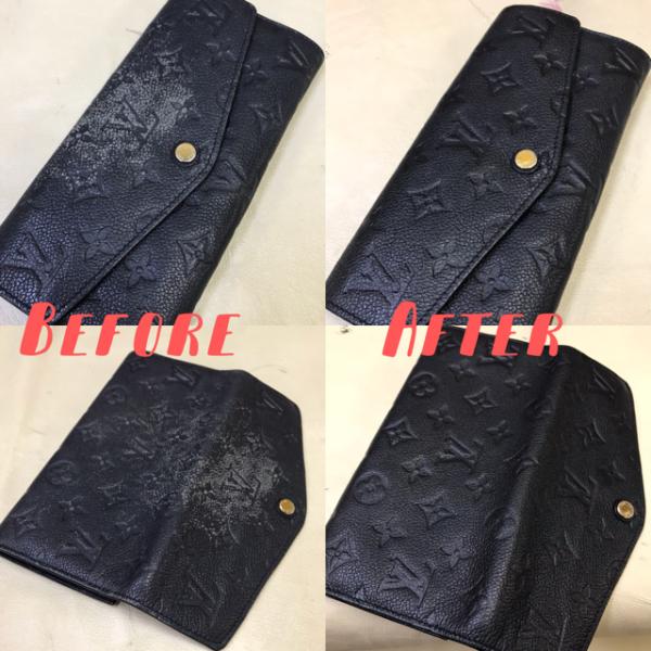ルイヴィトン【Louis Vuitton】・長財布・色落ち・染め直し