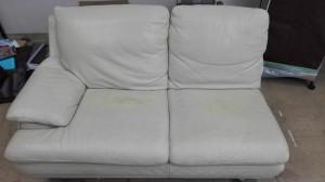 【大塚家具】ソファーの座面についた、スプレー跡とスレ傷の補修をしました!