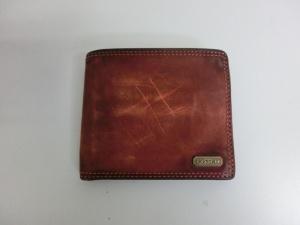 コーチ 財布の修理 染め直しで色落ち補修