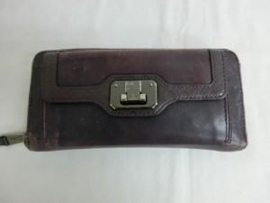 コールハーン 財布の修理 スレ傷補修と染め直し