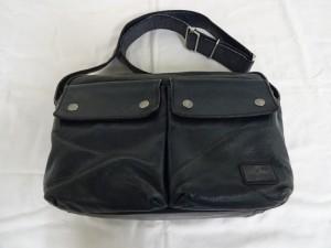 【鞄修理】ポーター ショルダーバッグの修理 スレ傷補修と染め直し
