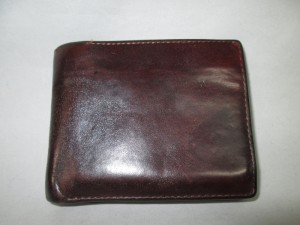 【wallet】ウォレット 財布の黒ずみ 染め直しのご依頼です。