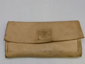 【ハンドメイド】長財布の染め直し、トップコート加工(防汚加工)