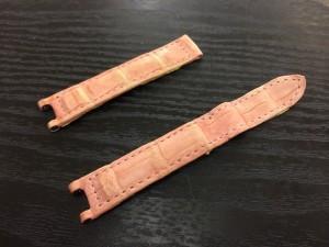 【Cartier】カルティエ クロコダイル腕時計ベルト 色褪せ補修