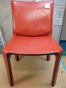 4 カッシーナ 椅子 脚 革 色落ち 補修 カラーリング 染め直し