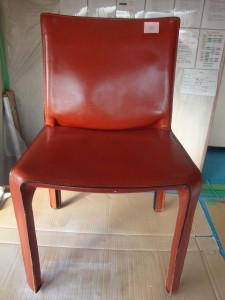1 カッシーナ 椅子 脚 革 色落ち 補修 カラーリング 染め直し