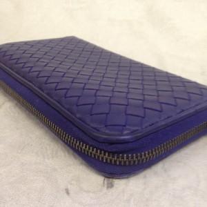 表参道 財布、鞄、バッグ、修理、張替、黒ずみ汚れ、クリーニング、色移り、すれ傷 ブルー ボッテガヴェネタ 16