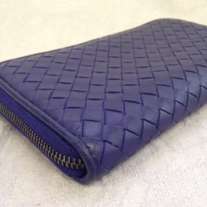 表参道 財布、鞄、バッグ、修理、張替、黒ずみ汚れ、クリーニング、色移り、すれ傷 ブルー ボッテガヴェネタ 17