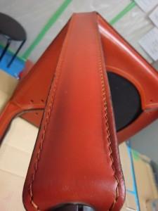 3 カッシーナ 椅子 脚 革 色落ち 補修 カラーリング 染め直し