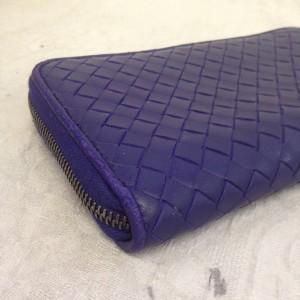 表参道 財布、鞄、バッグ、修理、張替、黒ずみ汚れ、クリーニング、色移り、すれ傷 ブルー ボッテガヴェネタ 15