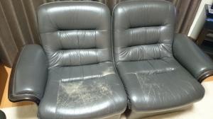 ダイニングソファー  修理