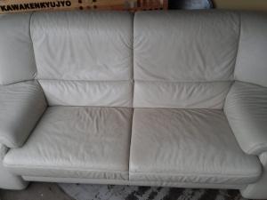 ソファー 座面 塗膜再生修理