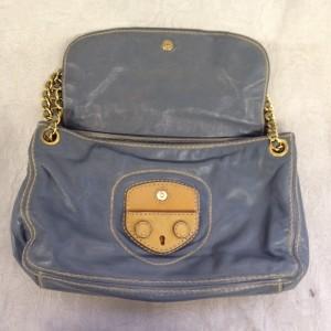 プラダ ショルダー グレー A2 ソファー、鞄、バッグ、修理、張替、黒ずみ汚れ、クリーニング、色移り、擦り傷、染め直し