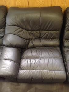 新宿 ソファー、鞄、バッグ、修理、張替、黒ずみ汚れ、クリーニング、色移り、すれ傷  黒 24