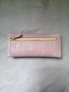 新宿 財布 鞄、バッグ、修理、張替、黒ずみ汚れ、クリーニング、色移り、すれ傷  ピンク プラダ 13