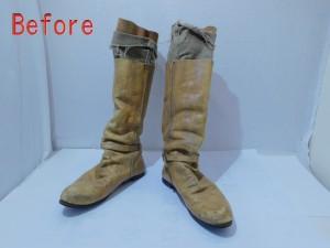 擦れたブーツをリペア! 革靴補修の革研究所豊橋店