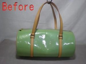 【PickUP!!】変色したエナメルバッグをリペア!! エナメル補修の革研究所豊橋店