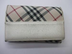 《BURBRRY》2つ折り財布 角部分スレキズ・黒ずみ キズ補修・染め直し 施工