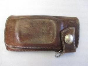 《ヌメ革長財布》 ファスナー交換・縫い目ほつれ縫製 修理